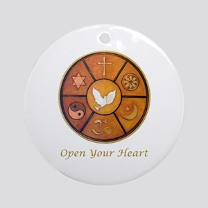 """""""Open Your Heart"""" Ornament (Round)"""