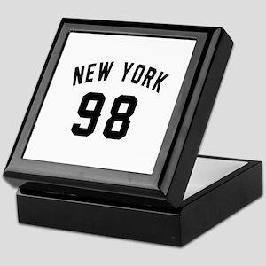 New York 98 Birthday Designs Keepsake Box