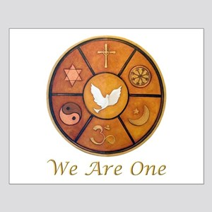 """Interfaith """"We Are One"""" Small Poster"""