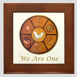 "Interfaith ""We Are One"" Framed Tile"