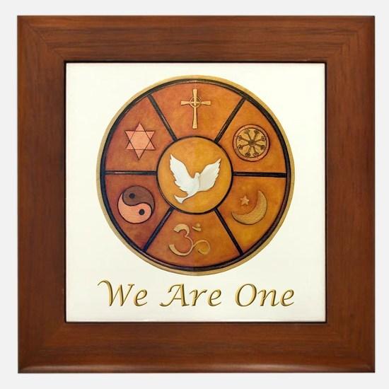 "Interfaith ""We Are One"" Framed Tile"