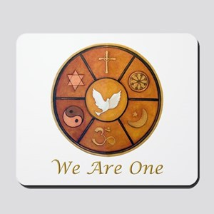 """Interfaith """"We Are One"""" Mousepad"""