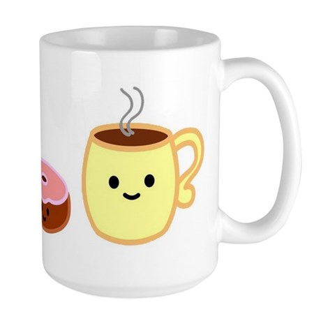 Kawaii Mug- Donut & Coffee