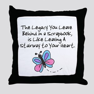 Scrapbooking Legacy Throw Pillow