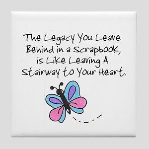 Scrapbooking Legacy Tile Coaster