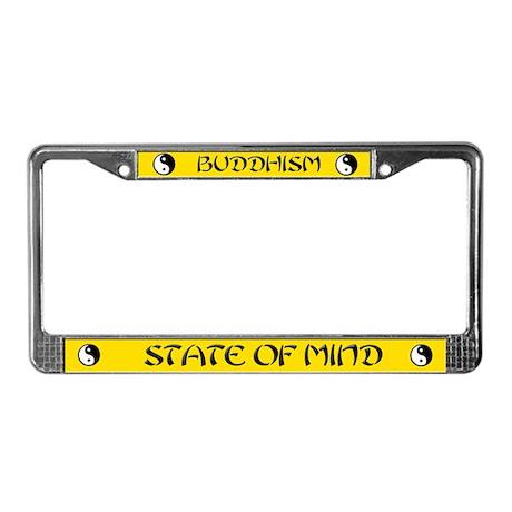 buddhist buddhism License Plate Frame