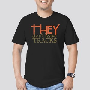 THEY Don't Leave Tracks Men's Fitted T-Shirt (dark