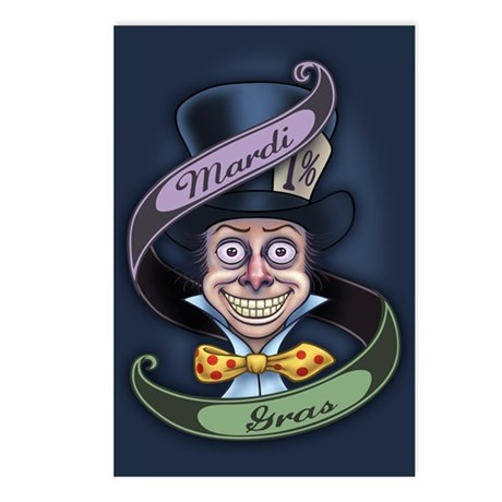Mad Mardi Gras Postcards (Package of 8)