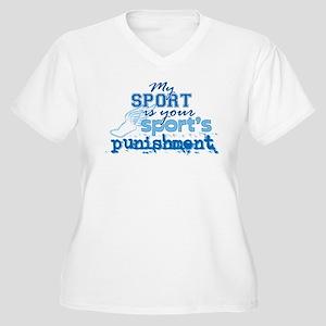 Sport Punishment Women's Plus Size V-Neck T-Shirt