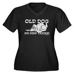Old Dog No New Tricks Women's Plus Size V-Neck Dar