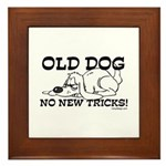 Old Dog No New Tricks Framed Tile
