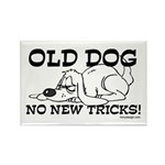 Old Dog No New Tricks Rectangle Magnet