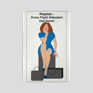 Baggage Women Rectangle Magnet