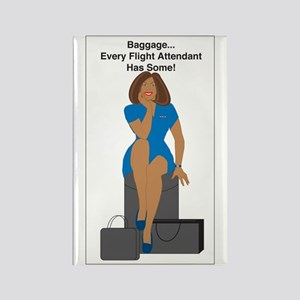 AA Baggage Woman Rectangle Magnet