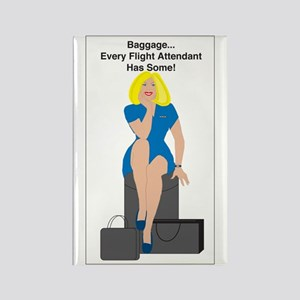 BL Baggage Woman Rectangle Magnet