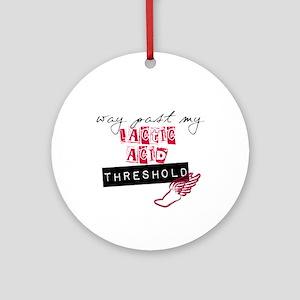 Lactic acid threshold Ornament (Round)