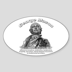 George Mason 01 Oval Sticker