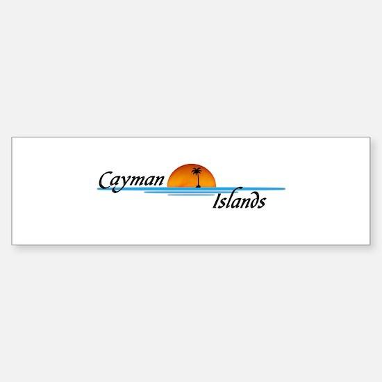 Cayman Islands Sunset Bumper Bumper Bumper Sticker