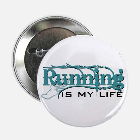 """Running is my life bc 2.25"""" Button"""