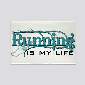 Running is my life bc Rectangle Magnet