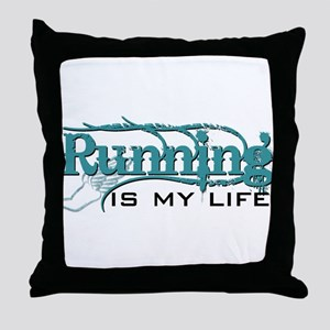 Running is my life bc Throw Pillow