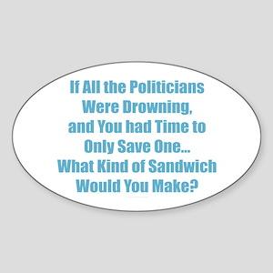 Sandwich Politicians Sticker