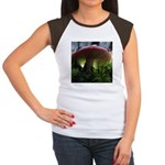 Red Mushroom in Forest Women's Cap Sleeve T-Shirt
