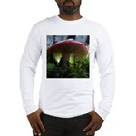 Red Mushroom in Forest Long Sleeve T-Shirt