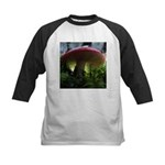 Red Mushroom in Forest Kids Baseball Jersey