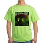 Red Mushroom in Forest Green T-Shirt