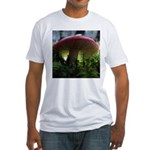 Red Mushroom in Forest Fitted T-Shirt