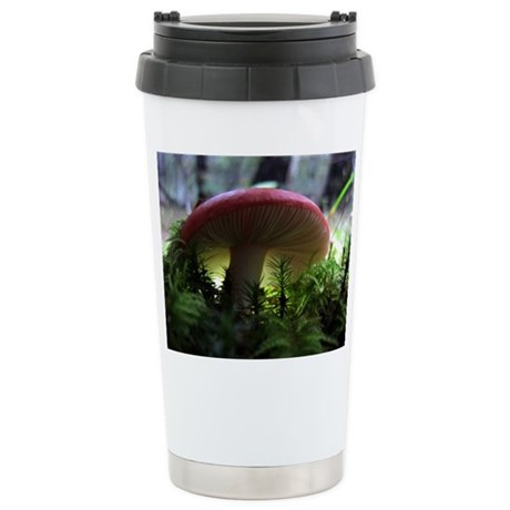 Red Mushroom in Forest Stainless Steel Travel Mug