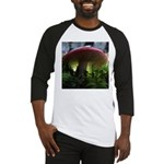 Red Mushroom in Forest Baseball Jersey