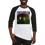 Red Mushroom in Forest Baseball Jersey