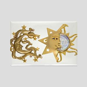 Sun Moon Sparkle Rectangle Magnet
