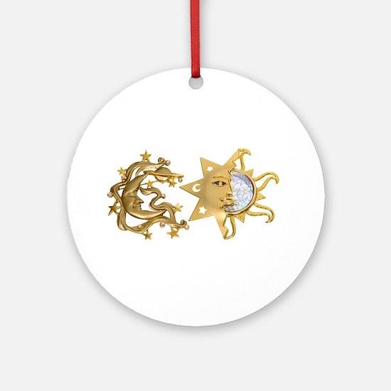 Sun Moon Sparkle Ornament (Round)