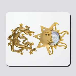 Sun Moon Sparkle Mousepad
