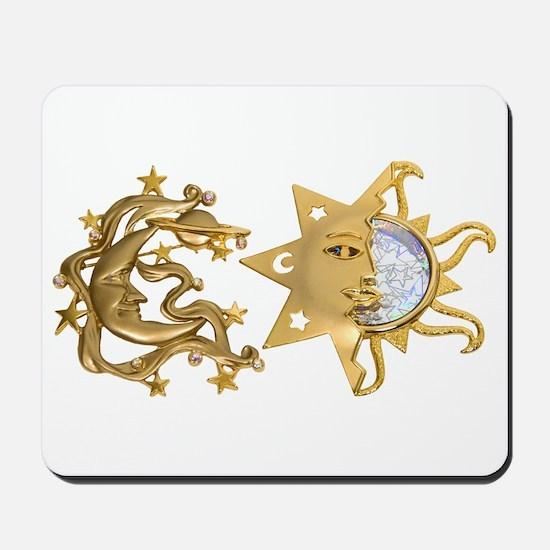 Sun Moon Sparkle Mousepad
