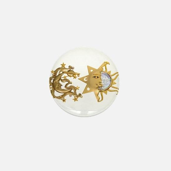 Sun Moon Sparkle Mini Button