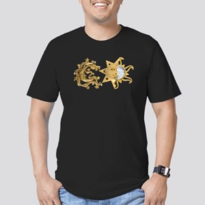 Sun Moon Sparkle Men's Fitted T-Shirt (dark)