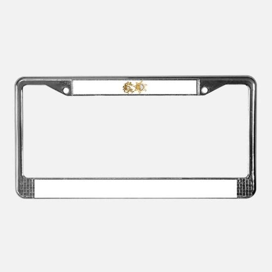 Sun Moon Sparkle License Plate Frame