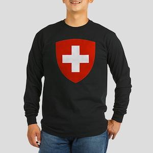 Switzerland Long Sleeve Dark T-Shirt