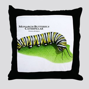 Monarch Butterfly Caterpillar Throw Pillow