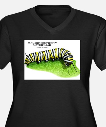Monarch Butterfly Caterpillar Women's Plus Size V-