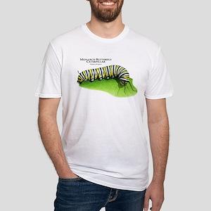 Monarch Butterfly Caterpillar Fitted T-Shirt