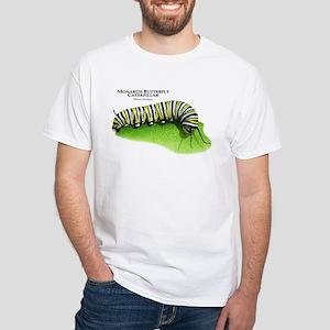 Monarch Butterfly Caterpillar White T-Shirt