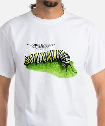 Monarch Butterfly Caterpillar White T-Shirt