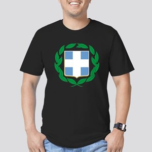 Greece Men's Fitted T-Shirt (dark)