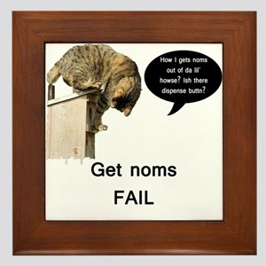 Nom Fail Framed Tile