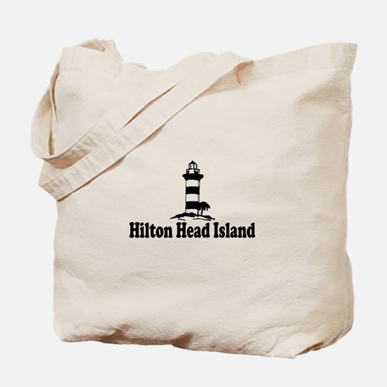Hilton Head Island SC - Lighthouse Design Tote Bag